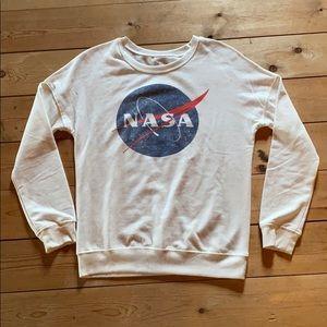 Zoe + Liv NASA white sweatshirt